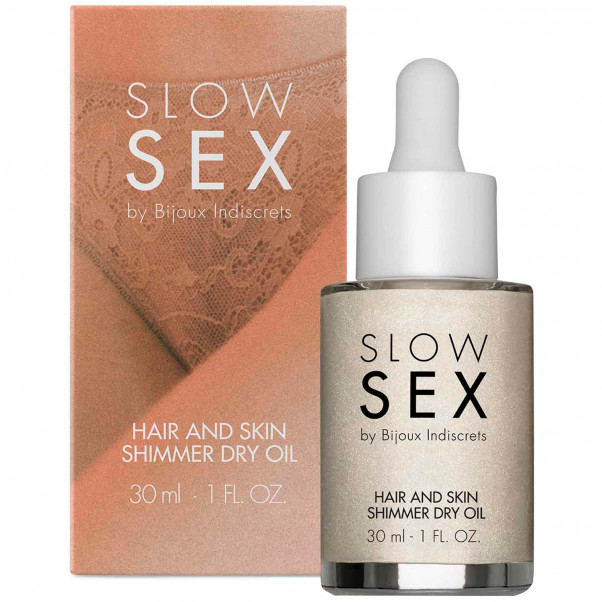 Slow Sex by Bijoux Hair and Skin Olja med Glitter 30ml  2