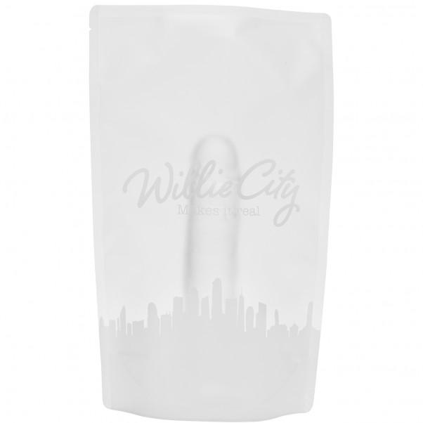 Willie City Realistisk Klar Dildo med Sugpropp 22 cm  5