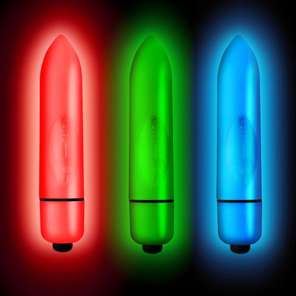 Rocks Off Neon Nights 80mm Bulletvibrator produktbild 4