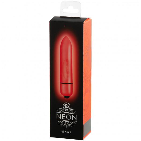 Rocks Off Neon Nights 80mm Bulletvibrator bild på förpackningen 90