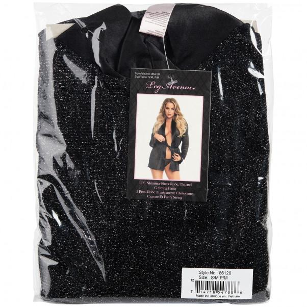 Leg Avenue Svart Kimono Set Produktförpackning 90