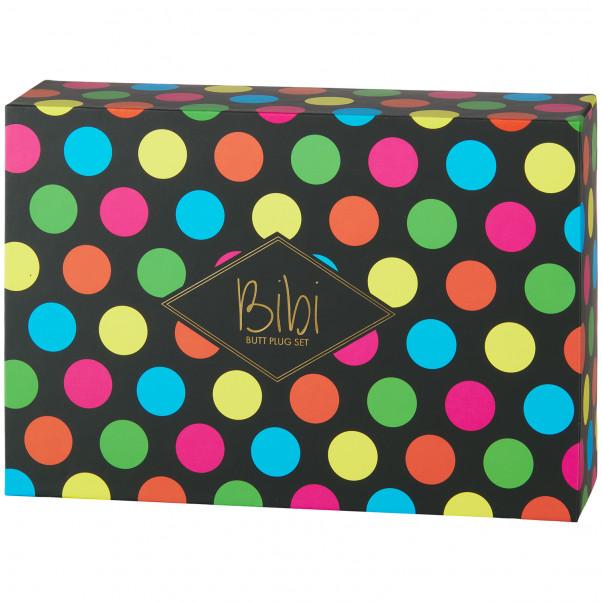 Feelztoys Bibi Buttplug Set bild på förpackningen 90
