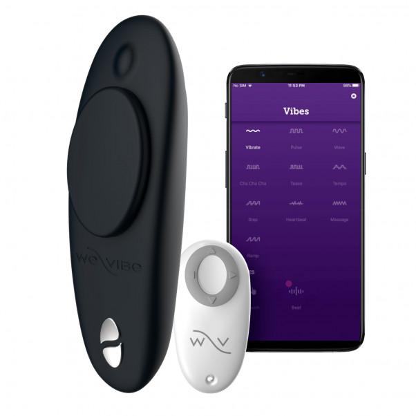 We-Vibe Moxie Svart Appstyrd Fjärrstyrd Trosvibrator produkt och app 1