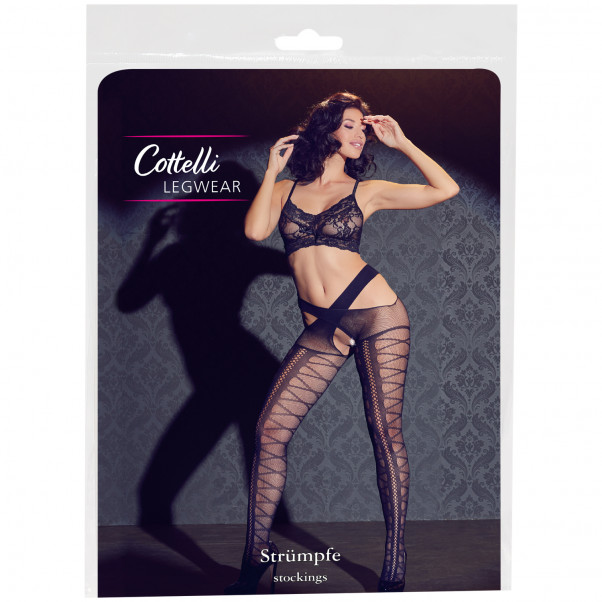 Cottelli Stockings with Suspender Hip Straps Pack 90