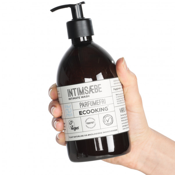 Ecooking Parfymfri Intimtvål 500 ml produkt i hand 50