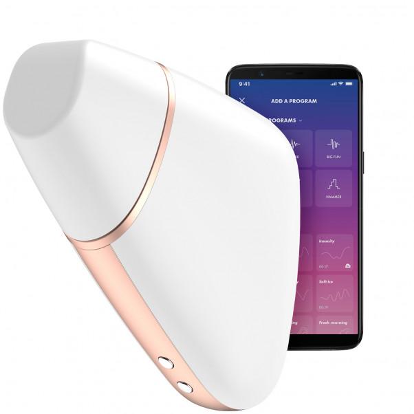 Satisfyer Love Triangle Vit Lufttrycksvibrator Produktbild med app 1